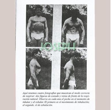 Joseph Pilates mostrando ejercícios de respiración