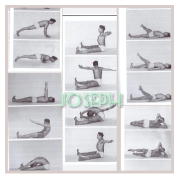 Joseph Pilates ejecutando ejercicios